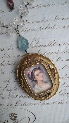 She Walks in Beauty  Vintage Assemblage by VintageTraveler on Etsy
