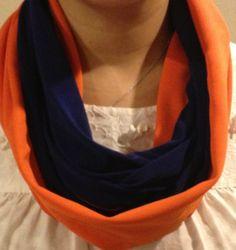Orange and Blue Infinity Scarf