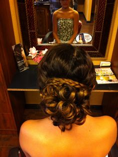 Prom hair updo (: