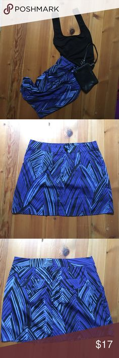 Gap Skirt Gap Skirt.  Cute, casual skirt - NBW.  Size 4 Measures 15.5 inches from top to bottom.  Zipper front w/ button closure. Side slash pockets. Gap Skirts