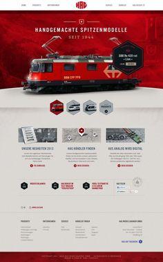 HAG model railways - Webdesign inspiration www.niceoneilike.com