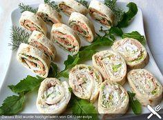 Mini - Wrap - Rollen, ein sehr leckeres Rezept aus der Kategorie Snacks und kleine Gerichte. Bewertungen: 96. Durchschnitt: Ø 4,3.