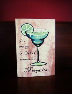 Margarita Happy Hour Canvas, $11.99