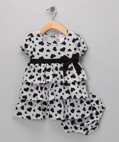 Gray Heart Dress & Nappy Cover - Infant & Toddlers by Kid's Wardrobe Wonders on #zulilyUK today!