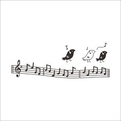 Sing Bird Rhythm Music Note PVC Plane Wall Stickers Black Purple 2... ($9.88) ❤ liked on Polyvore featuring home, home decor, wall art, wall stickers, black wall art, musical notes wall art, bird wall stickers, music sheet and bird wall art