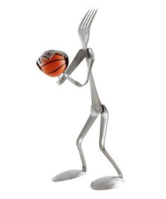 Loving this Basketball Player Fork Figurine on #zulily! #zulilyfinds