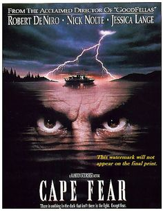 CAPE FEAR Robert de Niro. Movie Poster Print by BloominLuvly, $7.95