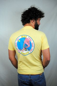 Vintage 80s Wind Surfing Tee Shirt by RogueRetro on Etsy