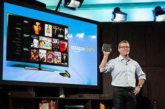 「アマゾン・ファイアTV」を紹介するピーター・ラーセン副社長=2日、ニューヨーク(AFP=時事) ▼3Apr2014時事通信 ネット動画をテレビで視聴=米アマゾンが接続機器 http://www.jiji.com/jc/zc?k=201404/2014040300078