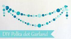 baby blue DIY garland