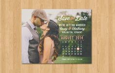 Photo Calendar Save the Date Printable PDF by ParcelIsland