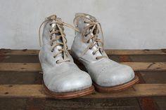Handmade Bojangles Boots in Sparkler Leather - Magnolia Pearl