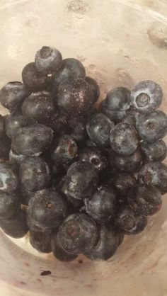 Frozen blueberries for my night time smoothie