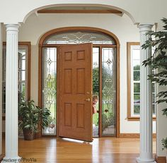 Fiberglass entry door with a classic design. #housetrends