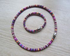 Kolorowy komplet w artkatalina -  biżuteria artystyczna na DaWanda.com