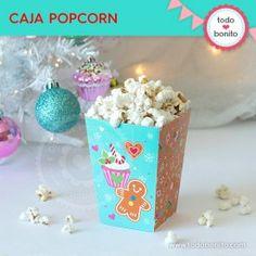 Dulce Navidad: cajita popcorn Cake, Desserts, Food, Filing Cabinets, Small Boxes, Wine Tags, Napkin Holders, Tailgate Desserts, Deserts