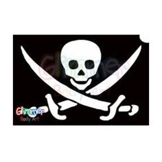 Glimmer Body Art Glitter Tattoos - Pirate Skull w/ Swords 1 (10/pack) by Glimmer Body Art. $6.35. Glimmer Body Arts Glitter Tattoos are non-latex, hypoallergenic and meet all cosmetic grade safety standards. Glitter Tattoos should not be applied to the face or eyes and stencils should be used only once.. Glimmer Body Art Glitter Tattoos are so easy to use that even a beginner can create amazing looking glitter tattoos in minutes. Glimmer Body Art Pirate Skull w/ Swor...