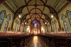 St Mary's Catholic Church Cathedral of Diocese of Austin, TX. USA