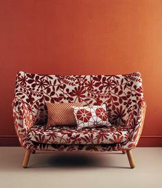 Jane Churchill red floral Fabrics