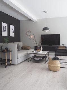 Modern Contemporary Living Room, Living Room Modern, Contemporary Design, Modern Decor, Scandinavian Modern, Scandinavian Living Rooms, Scandinavian Minimalist Living Room, Cozy Living, Clean Living