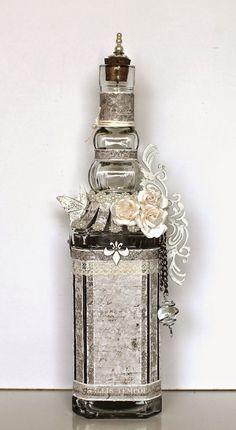 Ingrid's place: altered glass bottle *Maja Design*