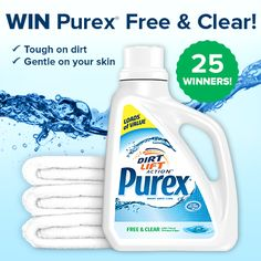 Let Purex® help you stay Free & Clear for a year!