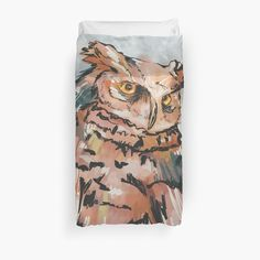 Duvet Cover Design, Bed Covers, Watercolor And Ink, Top Artists, Owl, My Arts, Art Prints, Printed
