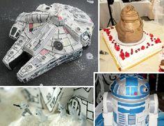Stellar Star Wars cake designs look at that Falcon!!