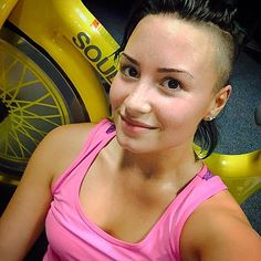 Medicine for my soul. #soulcycle #nomakeup also still sweating after 15 minutes... #healthyliving #demiworldtour