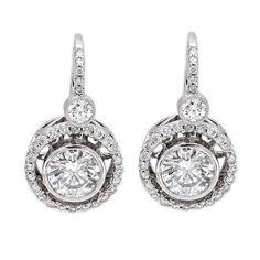 18k White Gold 2.01ct Round Diamond Earrings $10,490.00