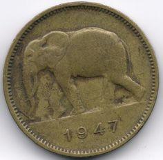 Belgian Congo 2 Francs 1947 op eBid België