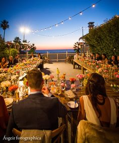 Sunset wedding reception on the Pacific Terrace at Shutters on the Beach - Santa Monica, California. Moments by Wayne, Blossom Floral, Asgier Photographica, 204 Events Beach Wedding Photos, Sunset Wedding, Wedding Reception, Wedding Venues, Wedding Destination, Exterior, Lets Celebrate, Event Venues, Santa Monica