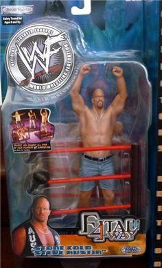 Stone Cold Steve Austin WWE WWF Fatal 4-Way 2 Toy Figure by Jakks. $74.34