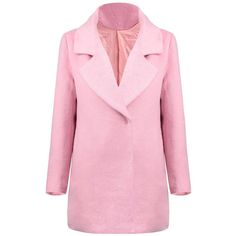 Yoins Yoins Pink Woolen Coat (97 BAM) ❤ liked on Polyvore featuring outerwear, coats, jackets, pink, yoins, trench coats, wool trench coat, pink trenchcoat, trench coat and pink trench coat