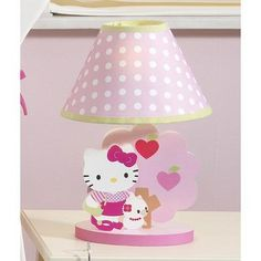 Bedtime Originals Hello Kitty and Puppy Lamp with Shade - Pink (Discontinued by Manufacturer) Hello Kitty Lampe, Hello Kitty Baby, Childrens Lamps, To My Daughter, Daughters, One Design, Future Baby, Bedtime, Baby Kids