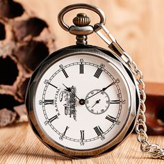 52f23b37712f Luxury Open Face Train Big Dial Roman Numers Mechanical Skeleton Pocket  Watch Steampunk Hand Winding Watch. Спортивные ЧасыRolex ЧасыМужчины ЖенщиныМужские  ...