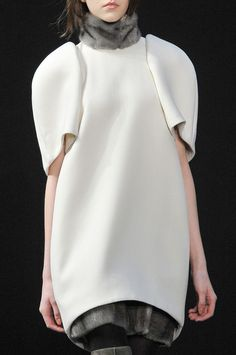 Sculptural Fashion - minimal dress with rounded silhouette & curved hem // Ports 1961 Fall 2012