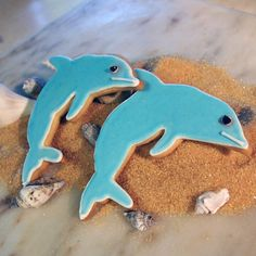 6 dolphin Sugar Cookies by dorianoconnell on Etsy, $21.00