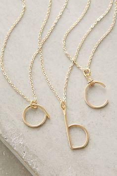Monogram Swing Necklace