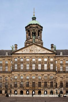 Royal Palace (Dutch: Koninklijk Paleis) in the city of Amsterdam, Netherlands.