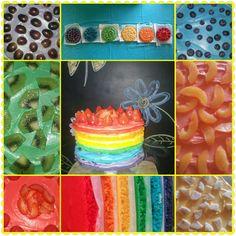 My daughters rainbow fruitcake