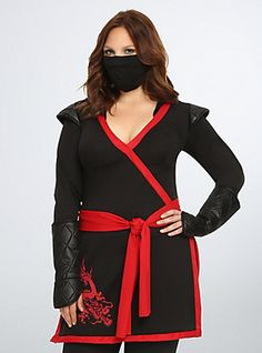 ninja assassin women's plus-size costume | hooks, the o'jays and
