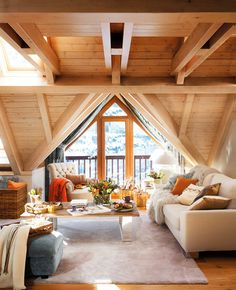 house interior rustic The owner of this mountain cottage retreat in the Val d'Aran in the Pyrenees Mountains, Spain wanted a cozy home where he could go to sleep looking at the st Design Case, Deco Design, Chalet Design, House Design, Home Deco, Interior Architecture, Interior And Exterior, Decor Interior Design, Interior Decorating