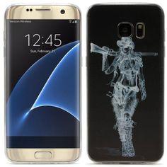 Original UrCover® Samsung Galaxy S7 Edge [KAMERASCHUTZ] Hülle Tasche Schutzhülle Case Cover Weich Silikon TPU Flexibel Ultra Slim Dünn Muster X-Ray 10,90€