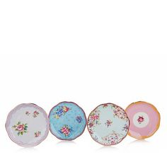 Royal Albert Candy Collection 4-piece Mini Plate Set - Candy Mix - 8045317 | HSN