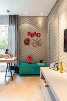 Ambiente por Spaço Interior #quarto #decoração #bedroom #inspiration #decor #bedroomdecor #lovedecor #grafismo #grafite