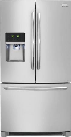 Kitchen | Frigidaire Gallery Stainless Steel Refrigerator with French Doors and Dispenser