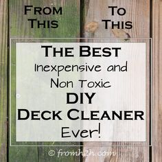 1000 images about deck cleaner on pinterest preserve for Non toxic concrete cleaner