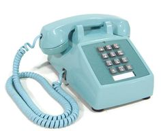 Thought I moved up in the world with this Aqua Blue push button phone. This was the phone I had in my room!!