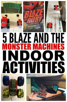 If you're looking for indoor activities for kids for bad weather days, check out this FAB collection of Blaze and the Monster Machine toys and activities! 5th Birthday Party Ideas, Birthday Activities, Third Birthday, Boy Birthday, Fabulous Birthday, Happy Birthday, Monster Trucks, Monster Truck Birthday, Blaze And The Monster Machines Party